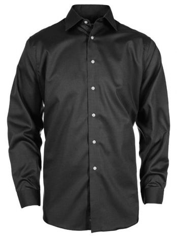 Calvin Klein CK029-017 Mens Premium Clean Dobby Shirt, Black – Small