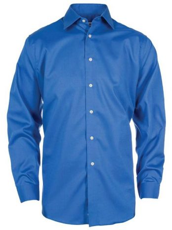 Calvin Klein CK029-866 Mens Premium Clean Dobby Shirt, Blue Wave – Small