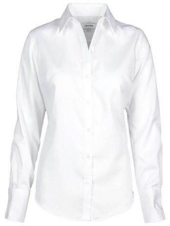 Calvin Klein CK030-026 Ladies Dobby Shirt, White – Small