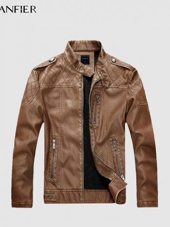 Men's High Quality Faux Leather Jacket