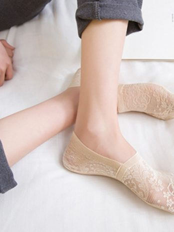 1 Pair Women Lace Invisible Ankle Socks