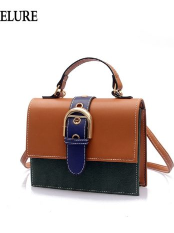 Vintage Female Designer Women Handbag PU Leather Women Shoulder Bag Panelled Cover Ladies Crossbody Bag Feminina Bolsas
