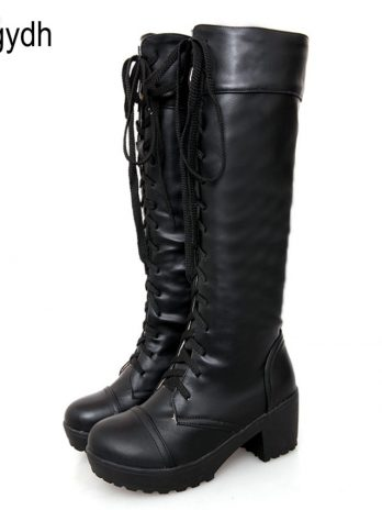 Hot sale knee high gothic boots