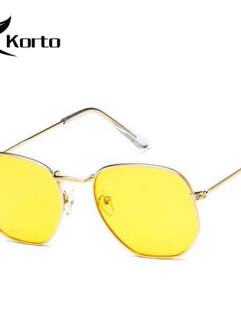 Fashion Sunglasses Brand Designer Dames Small Frame Polygon Sunglasses