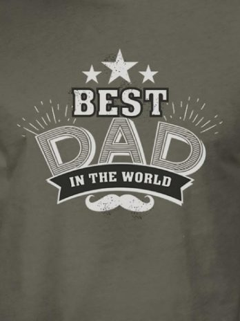 Best Dad In The World Mens Vintage Style Shirt