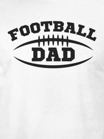 Football Dad Men's White Humorous Design T Shirt