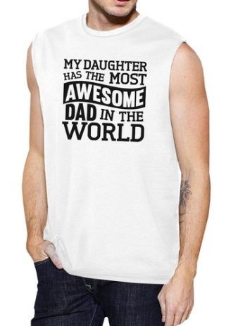 The Most Awesome Dad Men's White Unique Design