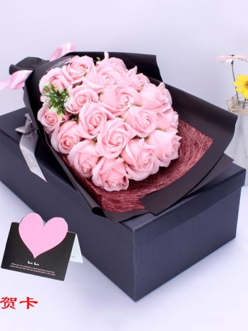 Rose Flower Soap With Gift Box