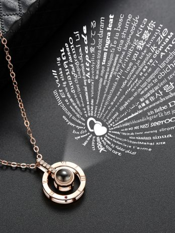 Projection Pendant Necklace – I Love You