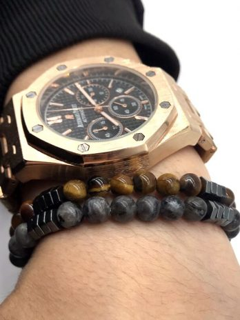 Fashion Geometric Beaded Men Bracelets Simple Classic Stone Bead Charm Bracelets